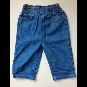 7 for mankind high waisted light wash jeans3-6m
